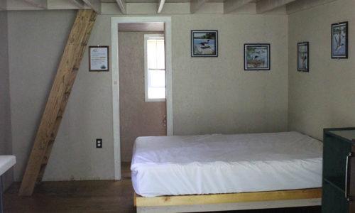 interior of New york adirondack camping cabins