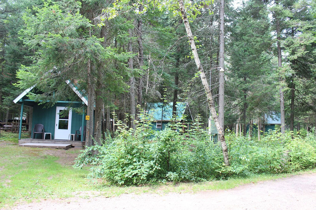 cabin at deer river campsite in ny